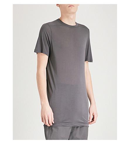 RICK OWENS 水平平纹针织面料 T 恤 (铁