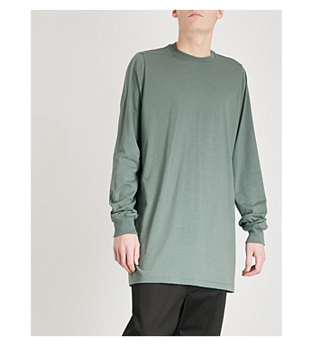 RICK OWENS Longline cotton top (Sage