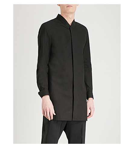 RICK OWENS Faun regular-fit cotton shirt (Black