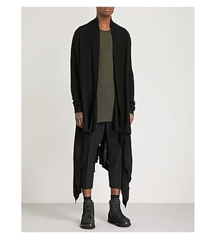RICK OWENS Longline cashmere cardigan (Black