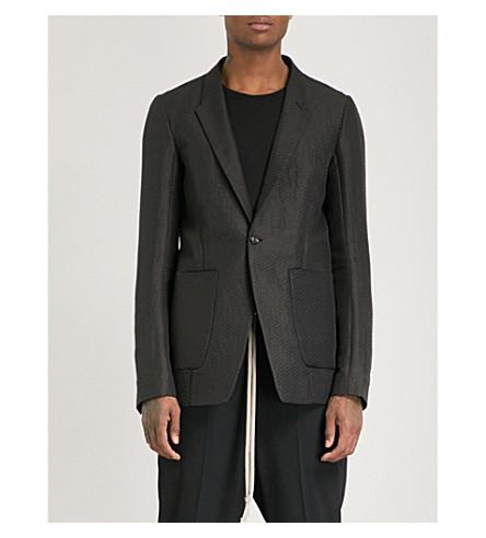 RICK OWENS Sheer silk jacket (Black