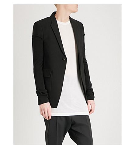 RICK OWENS Weakling regular-fit wool jacket (Black