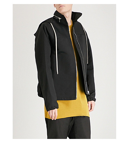 RICK OWENS Oversized windbreaker jacket (Black