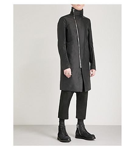 RICK OWENS Tubeway asymmetric shell coat (Black