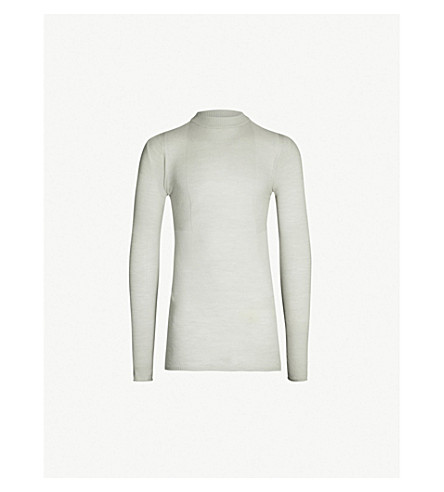 RICK OWENS Lupetto virgin-wool T-shirt (Oyster
