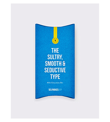 SELFRIDGES SELECTION The Sultry, Smooth & Seductive Type milk chocolate bar 80g
