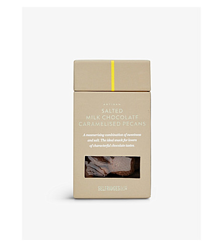 SELFRIDGES SELECTION Salted milk chocolate caramelised pecans 100g