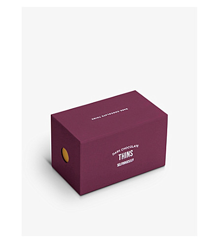 SELFRIDGES SELECTION Dark chocolate thins 200g