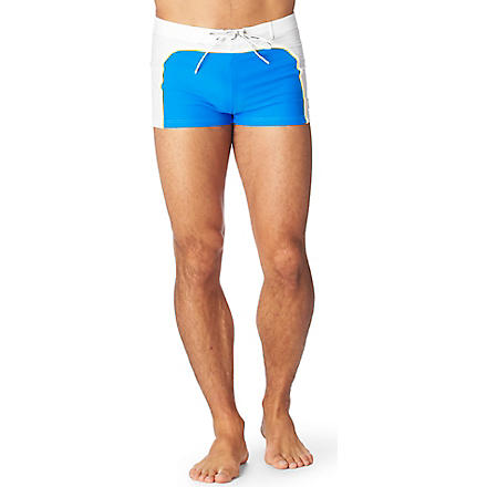 AUSSIEBUM Seventies swim trunks (Topaz