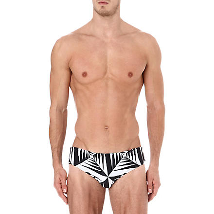AUSSIEBUM Geometric lines swimming trunks (Multi