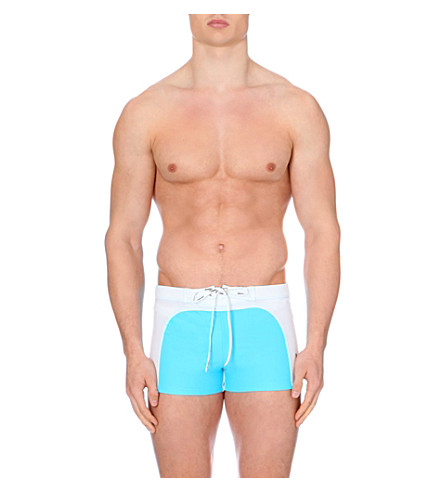 AUSSIEBUM Old-school trunks (White/blue
