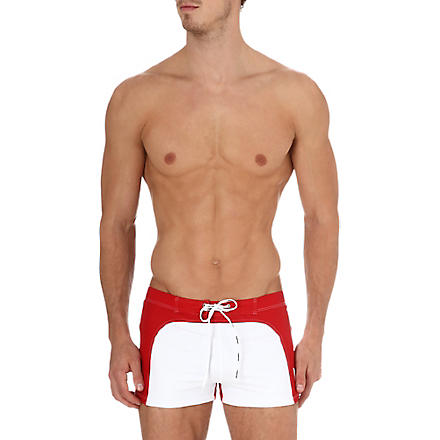 AUSSIEBUM 70s swim trunks (White