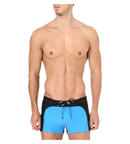 AUSSIEBUM 70s swim trunks (Blue+black
