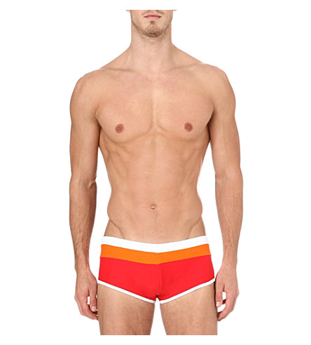 AUSSIEBUM Wave swim trunks (Red