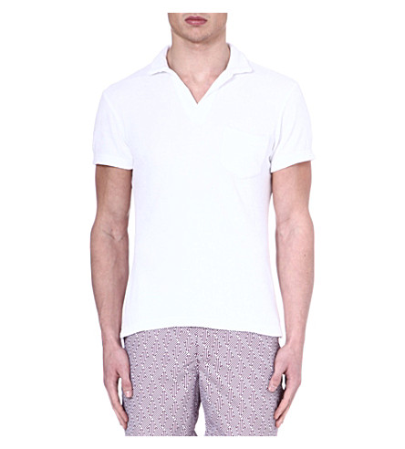 ORLEBAR BROWN Terry cotton polo shirt (White