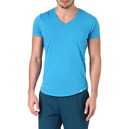 ORLEBAR BROWN Bobby v-neck t-shirt (Marine