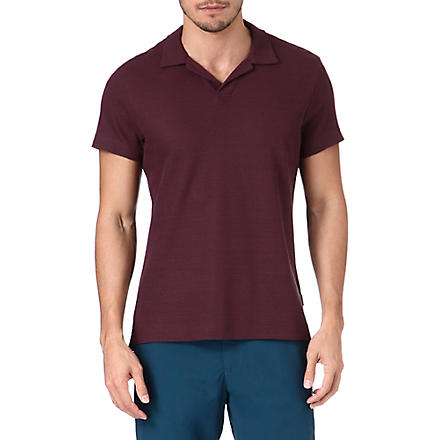 ORLEBAR BROWN Emerson honeycomb polo shirt (Bordeaux