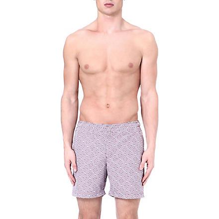 ORLEBAR BROWN Bulldog aztec-print swim shorts (Magenta