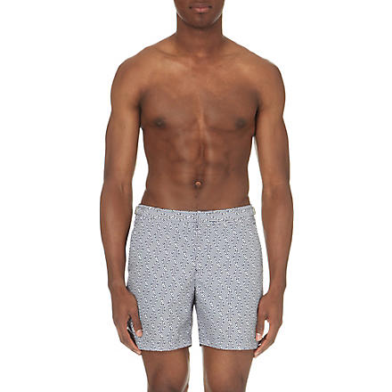 ORLEBAR BROWN Bulldog aztec-print swim shorts (Navy