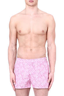 ORLEBAR BROWN Springer leaf-print swim shorts
