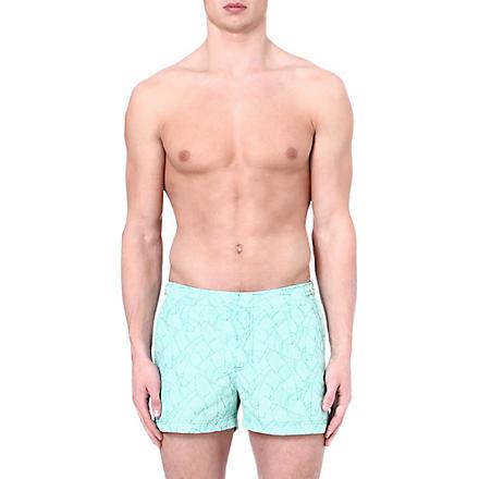 ORLEBAR BROWN Springer leaf-print swim shorts (Parrot