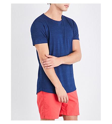 ORLEBAR BROWN 实心圆领棉 T 恤 (牛仔布