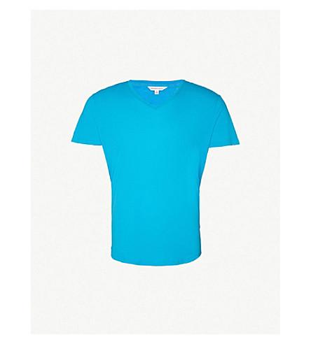 ORLEBAR BROWN V-neck cotton-jersey T-shirt (Azzure