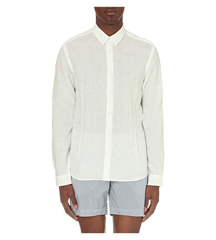 ORLEBAR BROWN Morton tailored-fit linen shirt (White