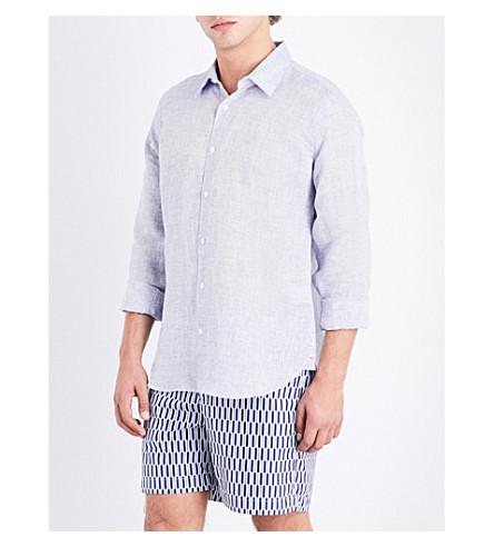 ORLEBAR BROWN Tailored-fit linen shirt (Navy