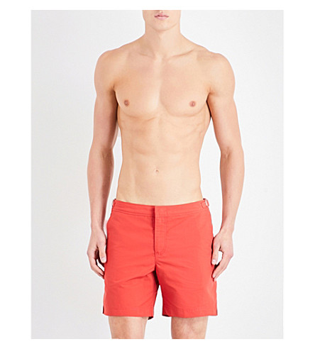 ORLEBAR BROWN Bulldog swim shorts (Burnt+orange