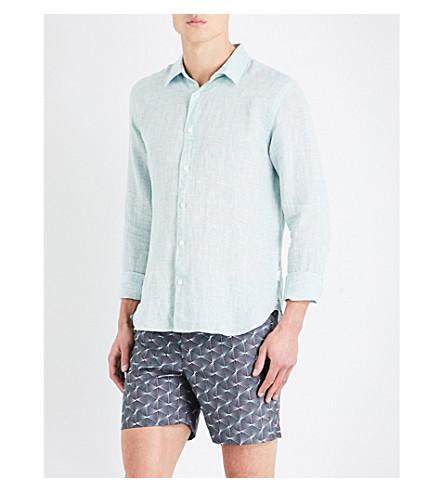 ORLEBAR BROWN Morton tailored-fit linen shirt (Mint