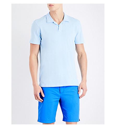 ORLEBAR BROWN Felix waffle cotton polo shirt (Lt+blue