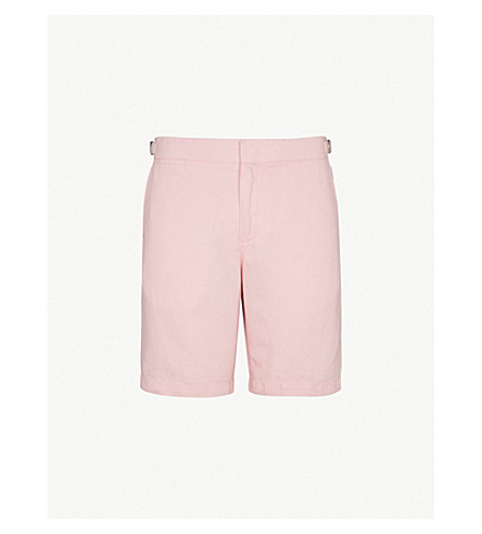 ORLEBAR BROWN Tailored linen shorts (Pink