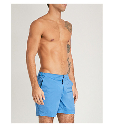 ORLEBAR BROWN Bulldog regular-fit swim shorts (Bright+blue