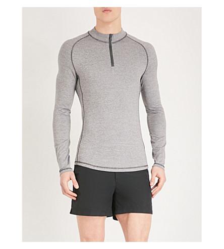 ORLEBAR BROWN Bray rashguard stretch-jersey surf top (Grey/black