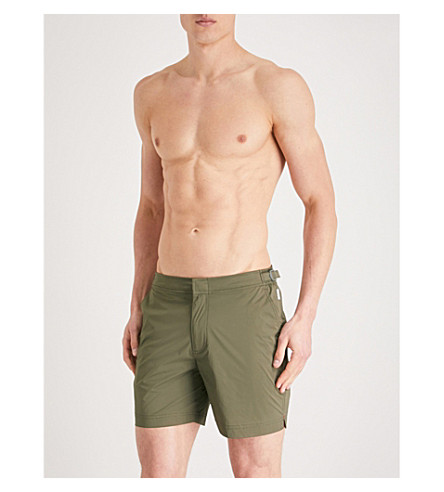 BROWN de de Khaki corte regular cortos Bulldog ORLEBAR baño pantalones ZdwRZqS
