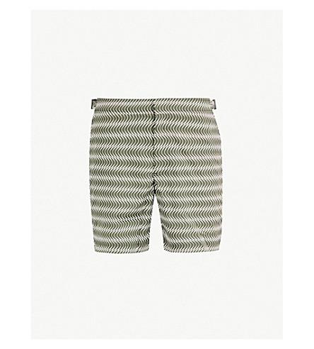 ORLEBAR BROWN Graphic-print swim shorts (Khaki
