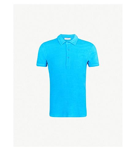 ORLEBAR BROWN Cotton polo shirt (Bright blue