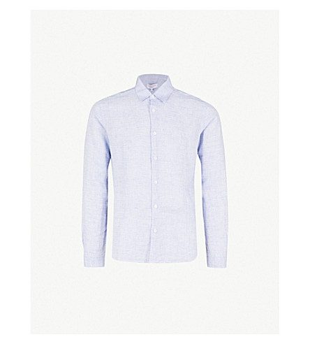 ORLEBAR BROWN Morton tailored-fit linen shirt (Navy