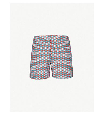 ORLEBAR BROWN Setter graphic-print swim shorts (Fossil orange