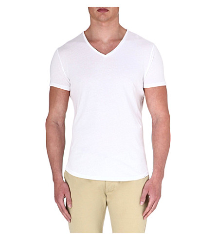 ORLEBAR BROWN V-neck cotton-jersey T-shirt (White