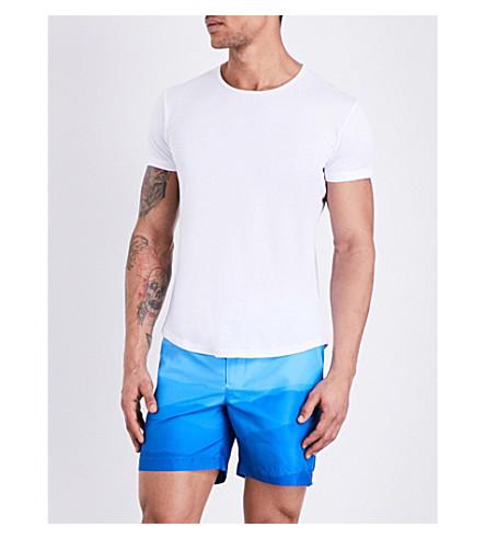 ORLEBAR BROWN Solid crewneck cotton T-shirt (White