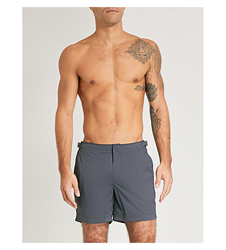 ORLEBAR BROWN Bulldog regular-fit swim shorts (Grey