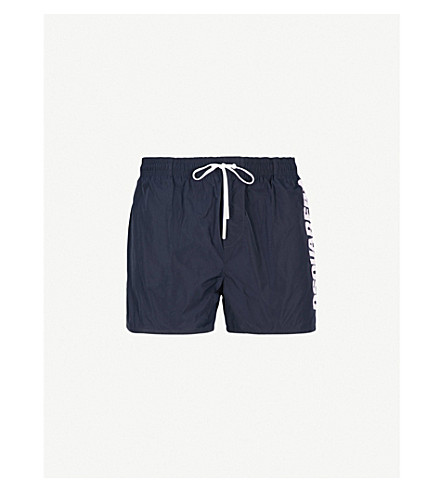 DSQUARED2 Logo-print swim shorts (Navy+pink