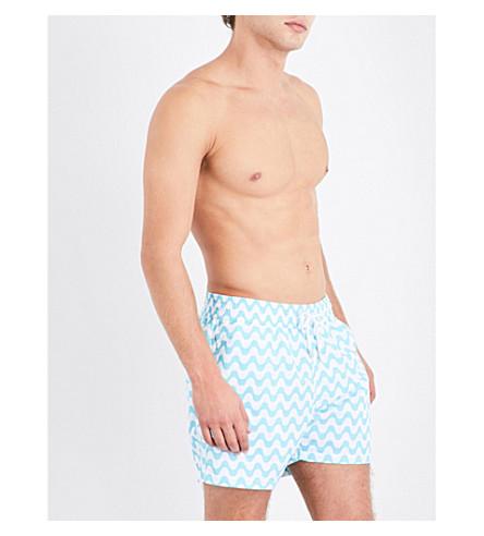 FRESCOBOL CARIOCA Copacobana sport swim shorts (Turq+wht