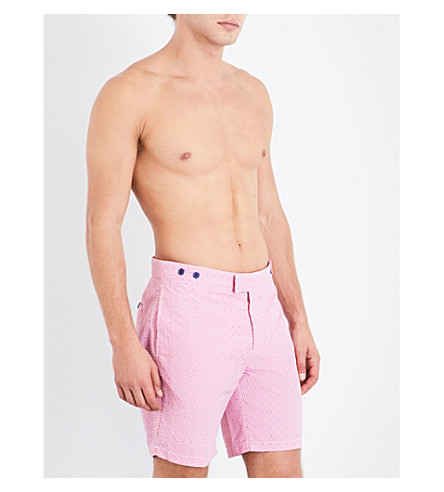 FRESCOBOL CARIOCA Angra geometric swim shorts (Pink