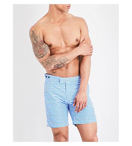 FRESCOBOL CARIOCA Noronha geometric swim shorts (Blue