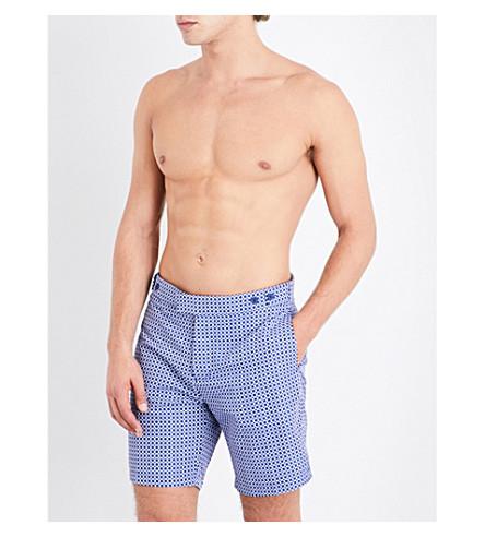 FRESCOBOL CARIOCA Geometric swim shorts (Navy