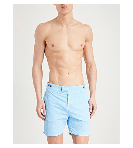 FRESCOBOL CARIOCA Angra diamond-print swim shorts (Brt+blue