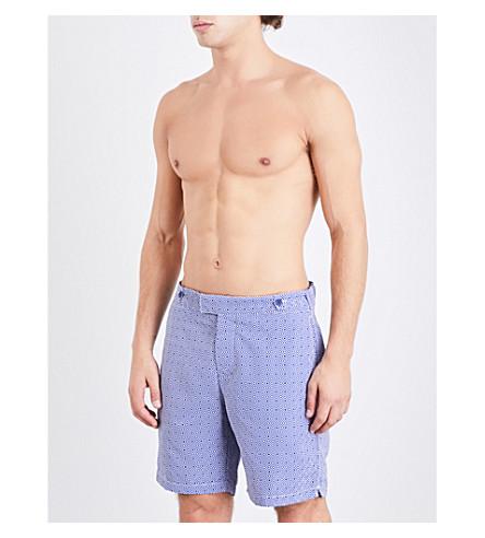 FRESCOBOL CARIOCA Angra diamond-print swim shorts (Navy
